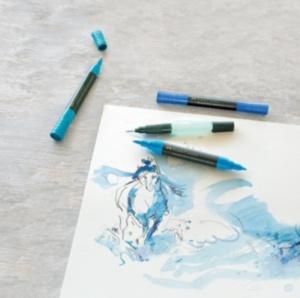 Что такое акварельные маркеры и как ими рисовать