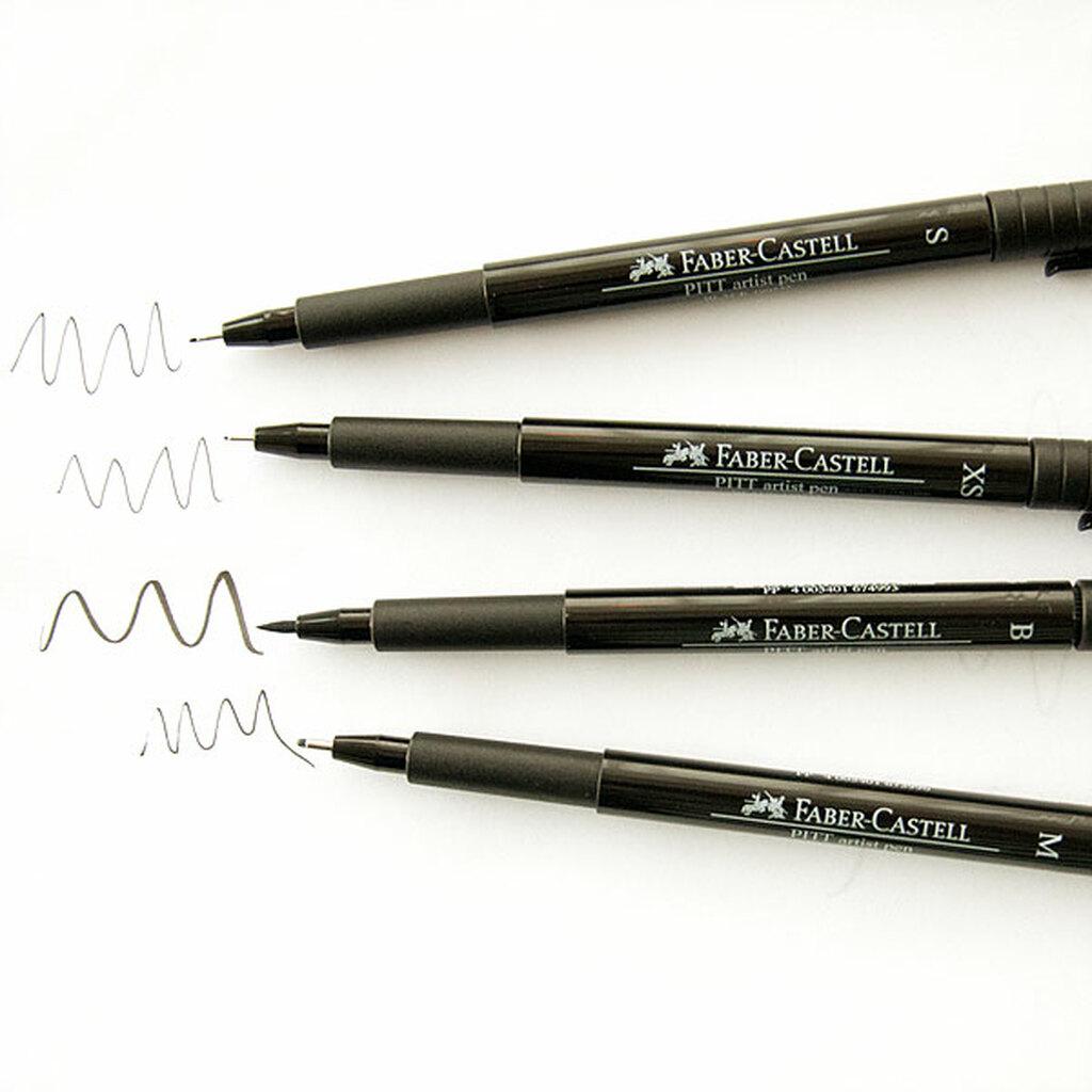 Толщина пишущего узла линеров Faber-Castel