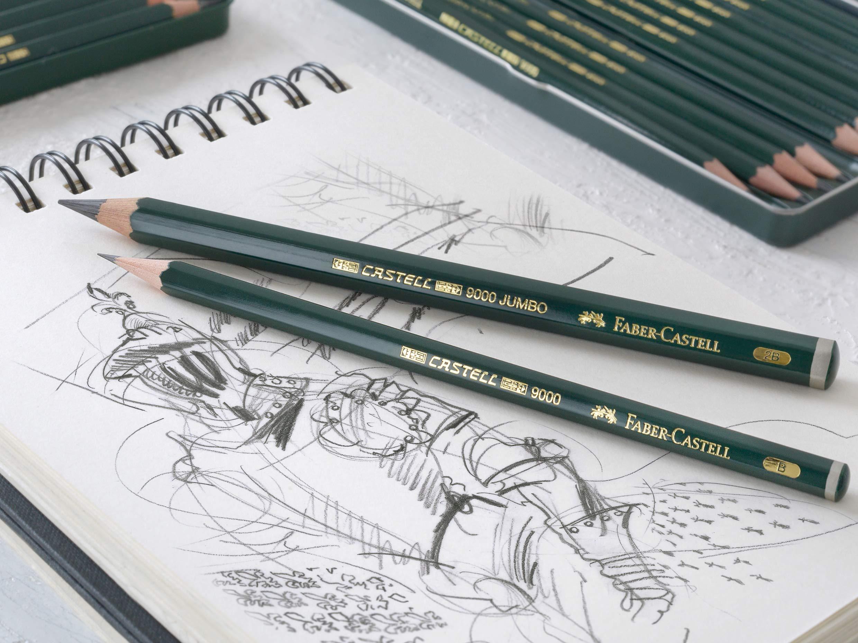 Чернографитные карандаши Faber Castell