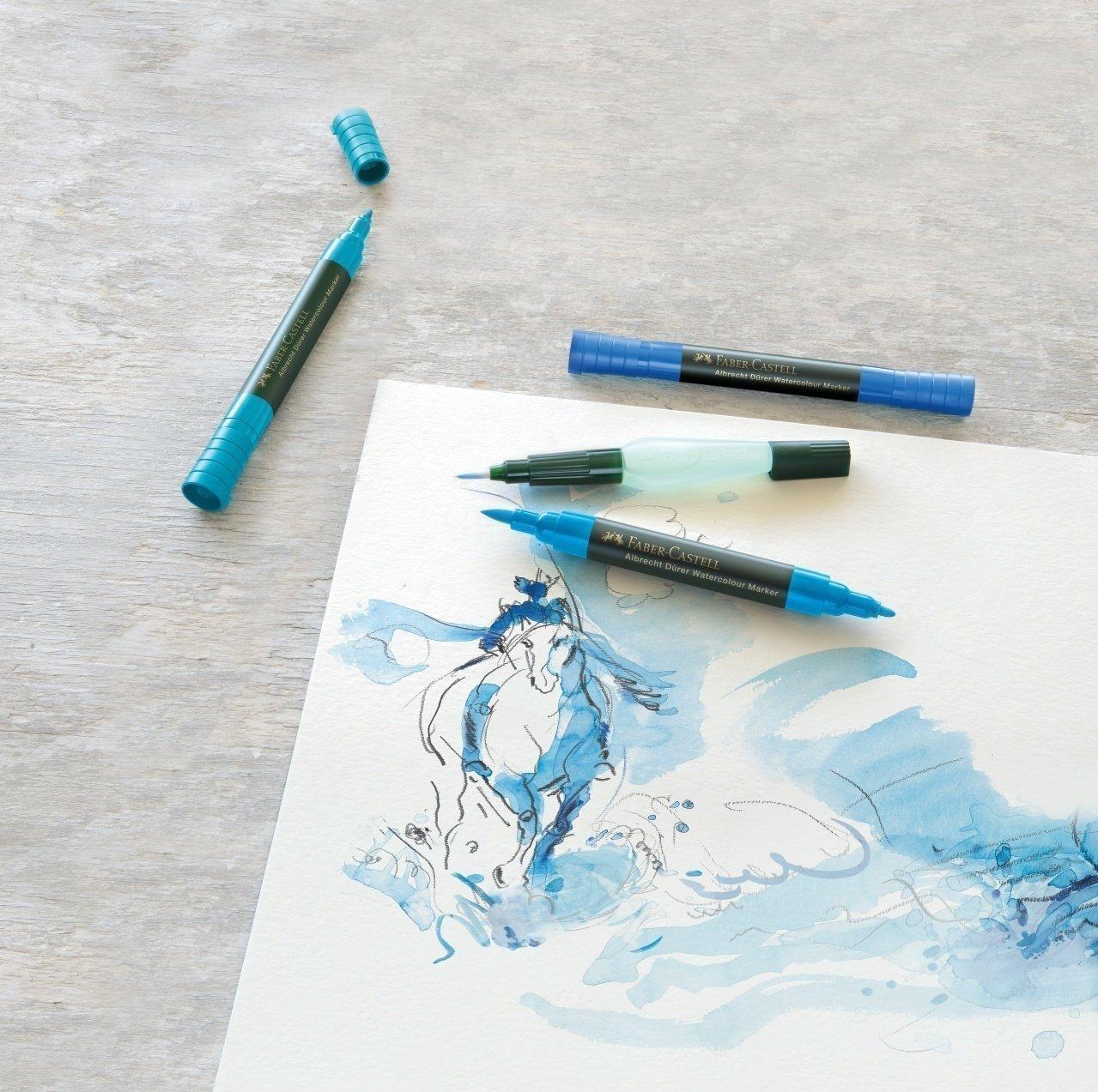 Рисунок акварельными маркерами
