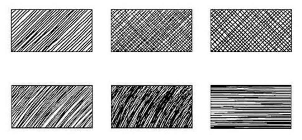 Разновидности штриховки