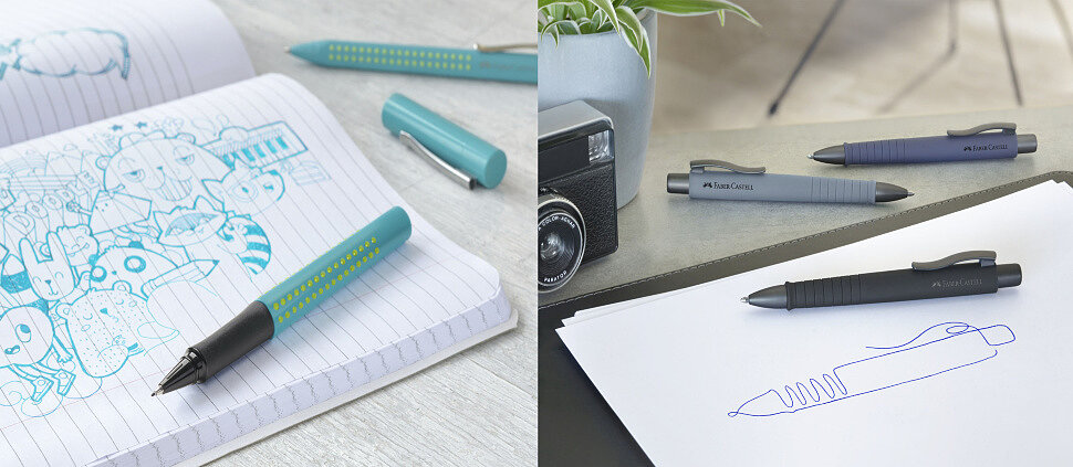 Шариковая и роллер ручки Faber-Castell