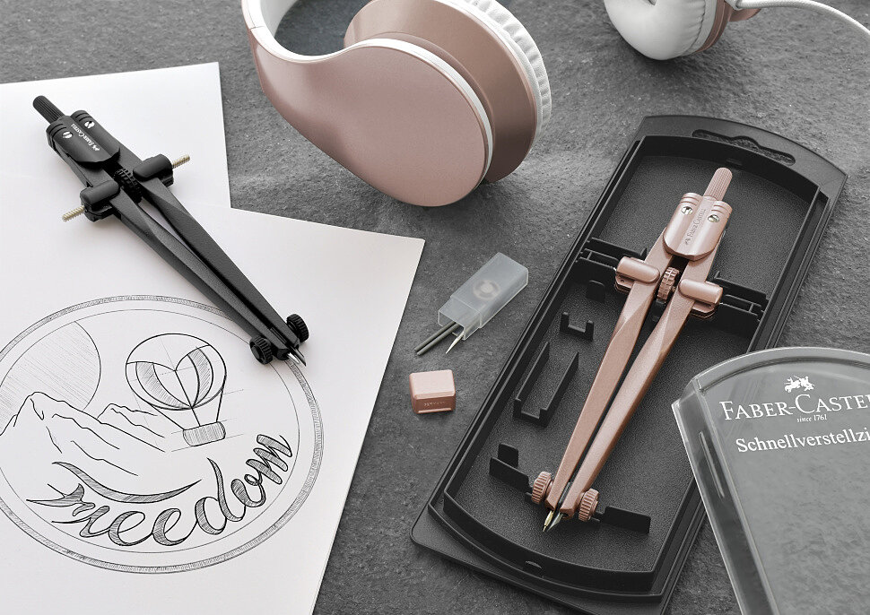 Циркуль готовальня Faber-Castell